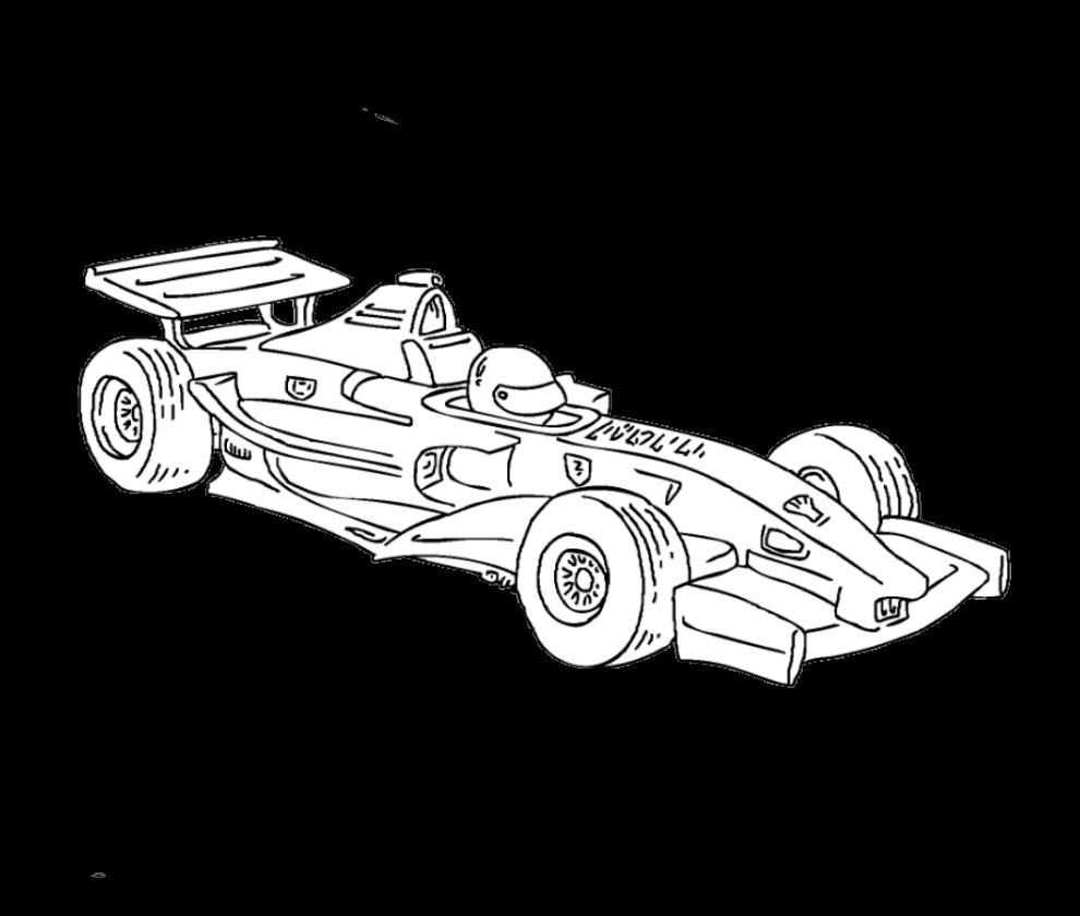 раскраски гоночных машин формула 1