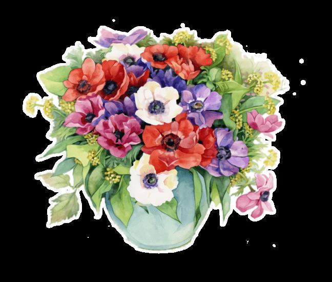 Распечатать раскраски цветов