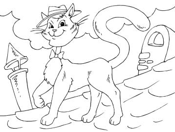 онлайн раскраски кошки и котята котенок и клубок