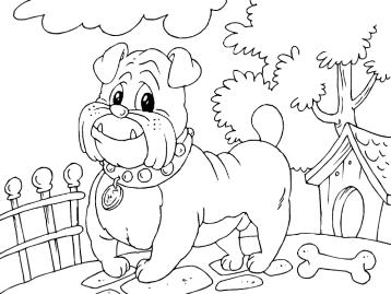 Играть собаки раскраски