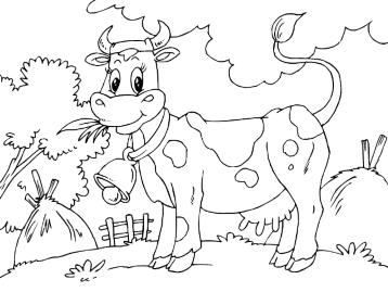 онлайн раскраски животные свинья