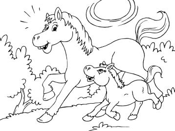 Игра лошадки раскраски