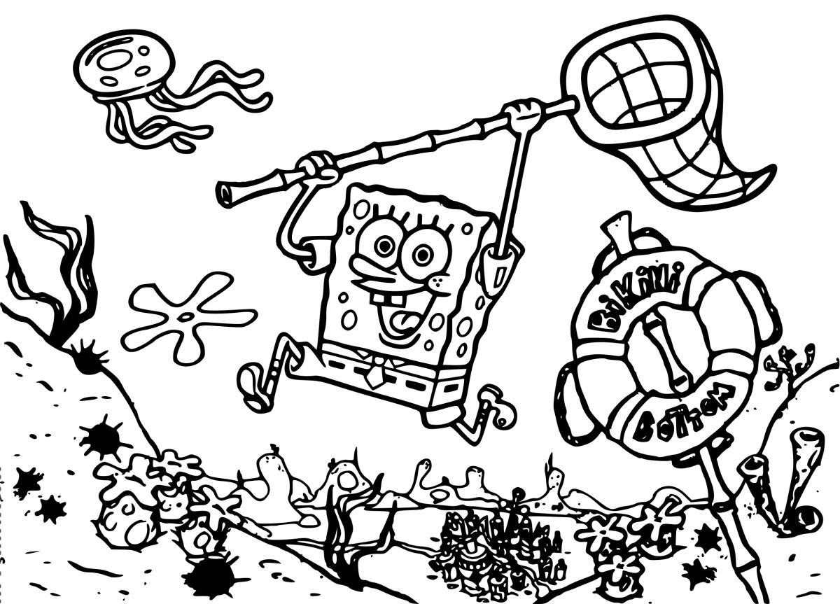 Распечатать раскраски Губка Боб #7