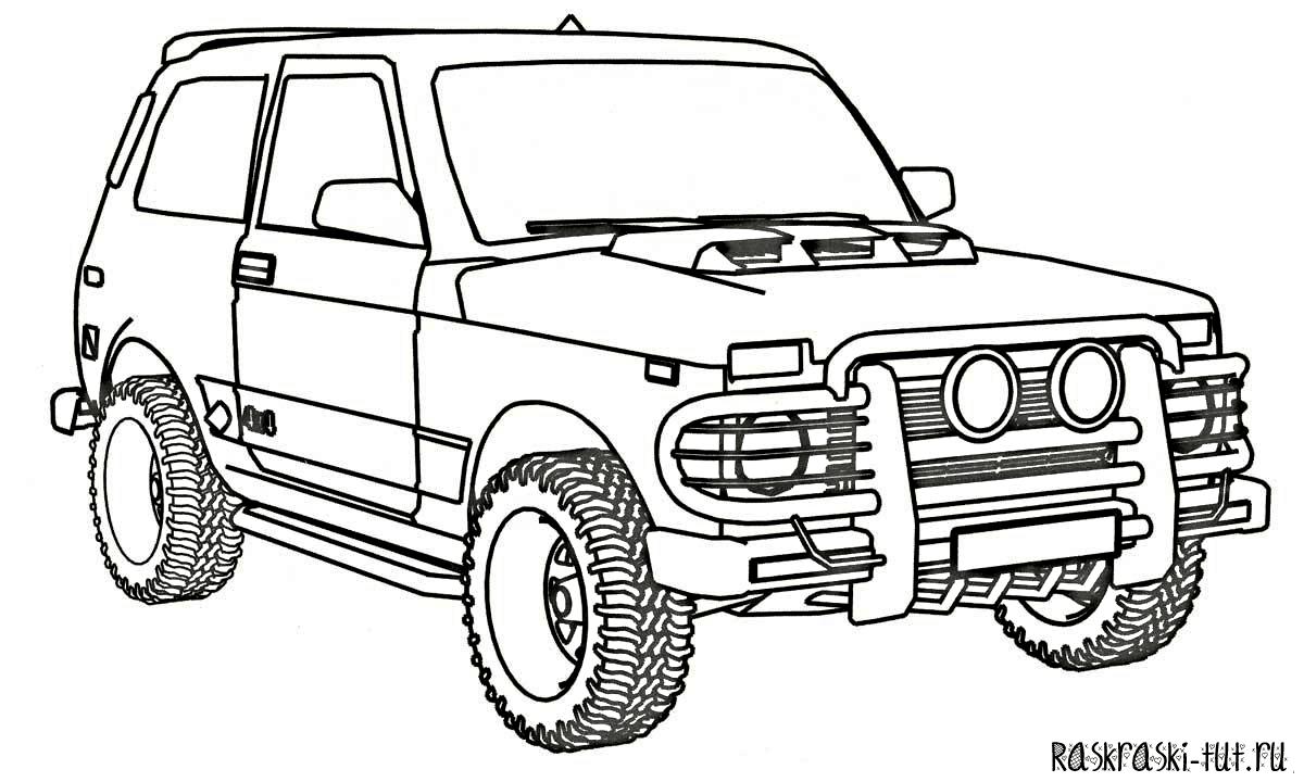 распечатать раскраски машины 5