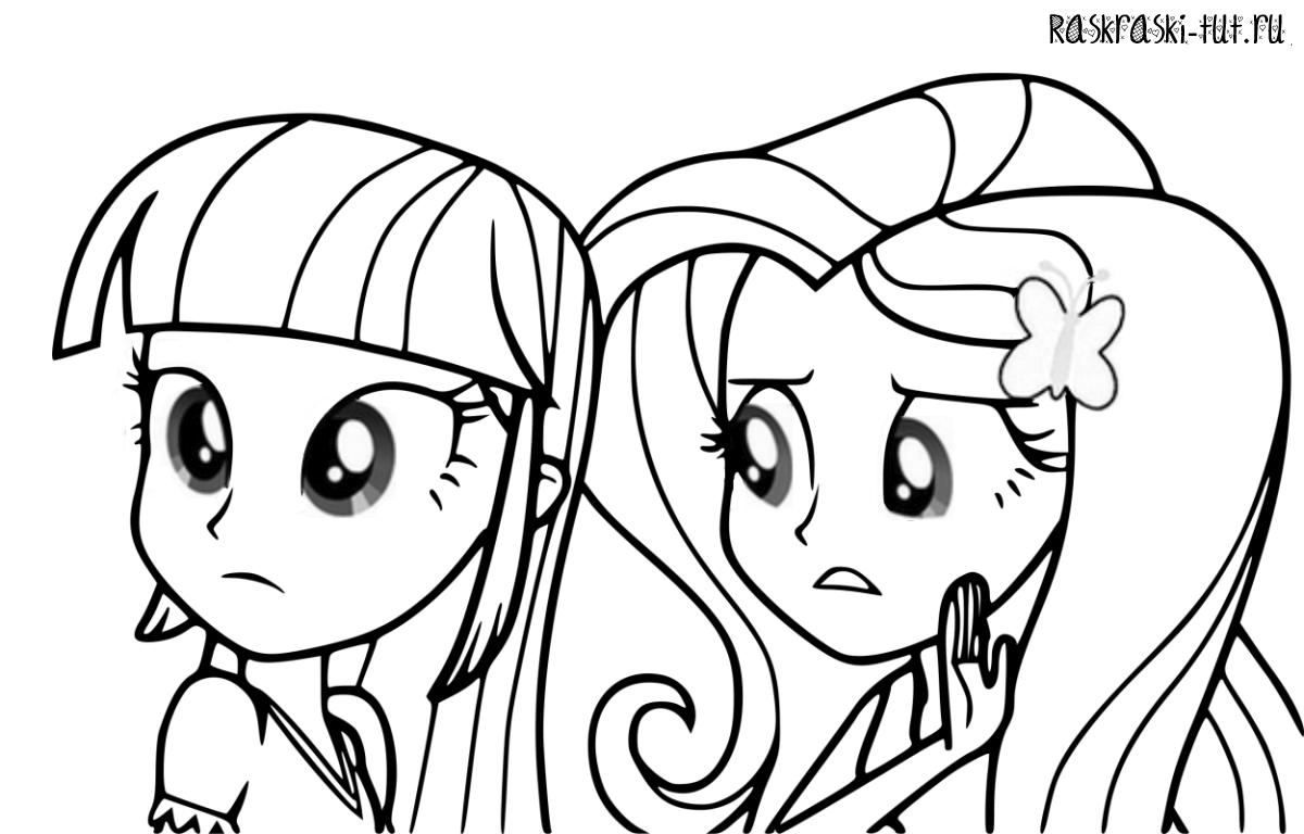 Малитал пони раскраска 114