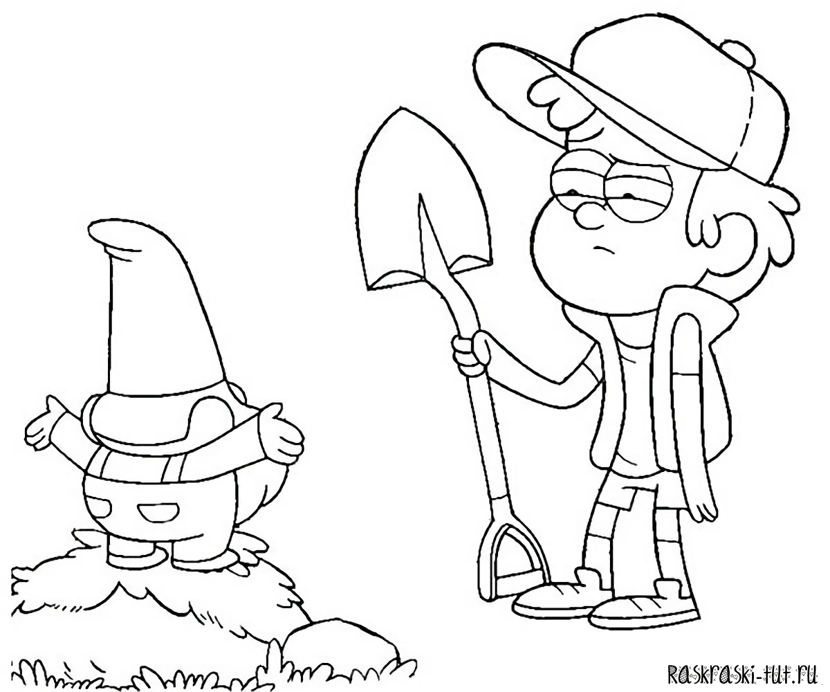 gravity falls coloring pages free - photo#35