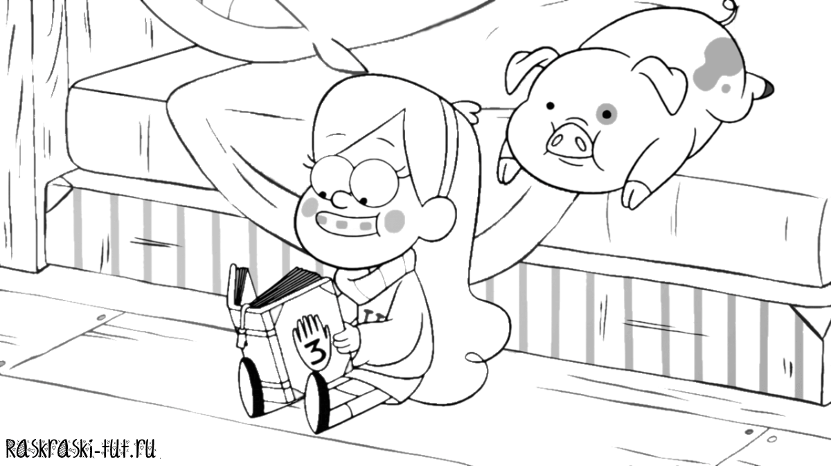 3 for Coloring pages of gravity falls