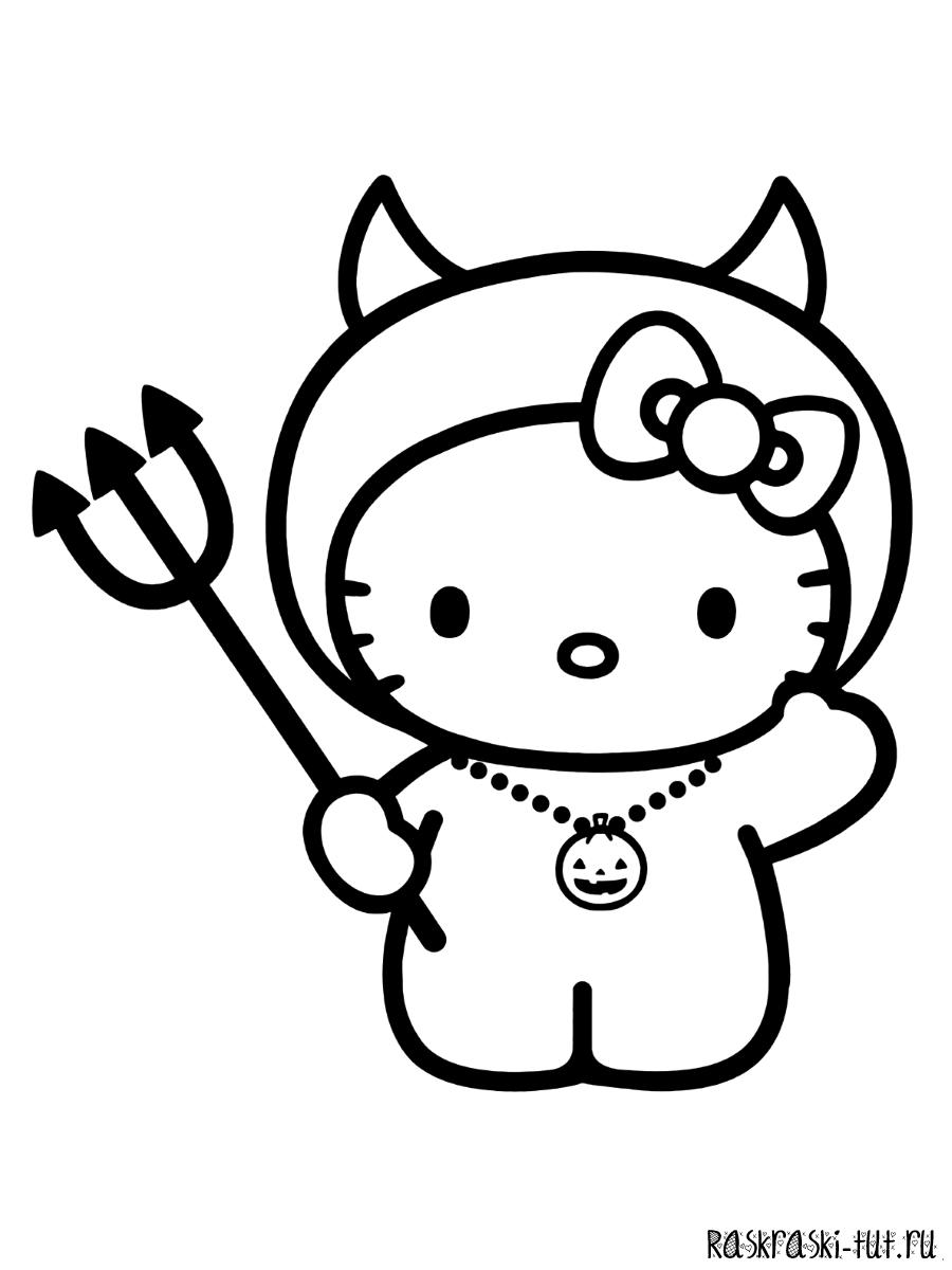 Раскраски Хелло Китти распечатать / Hello Kitty