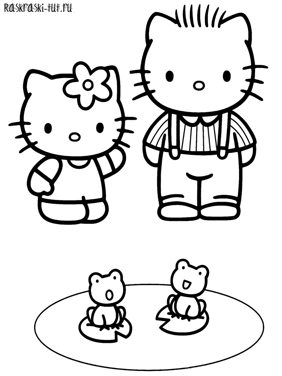 Раскраски Хелло Китти распечатать / Hello Kitty #3