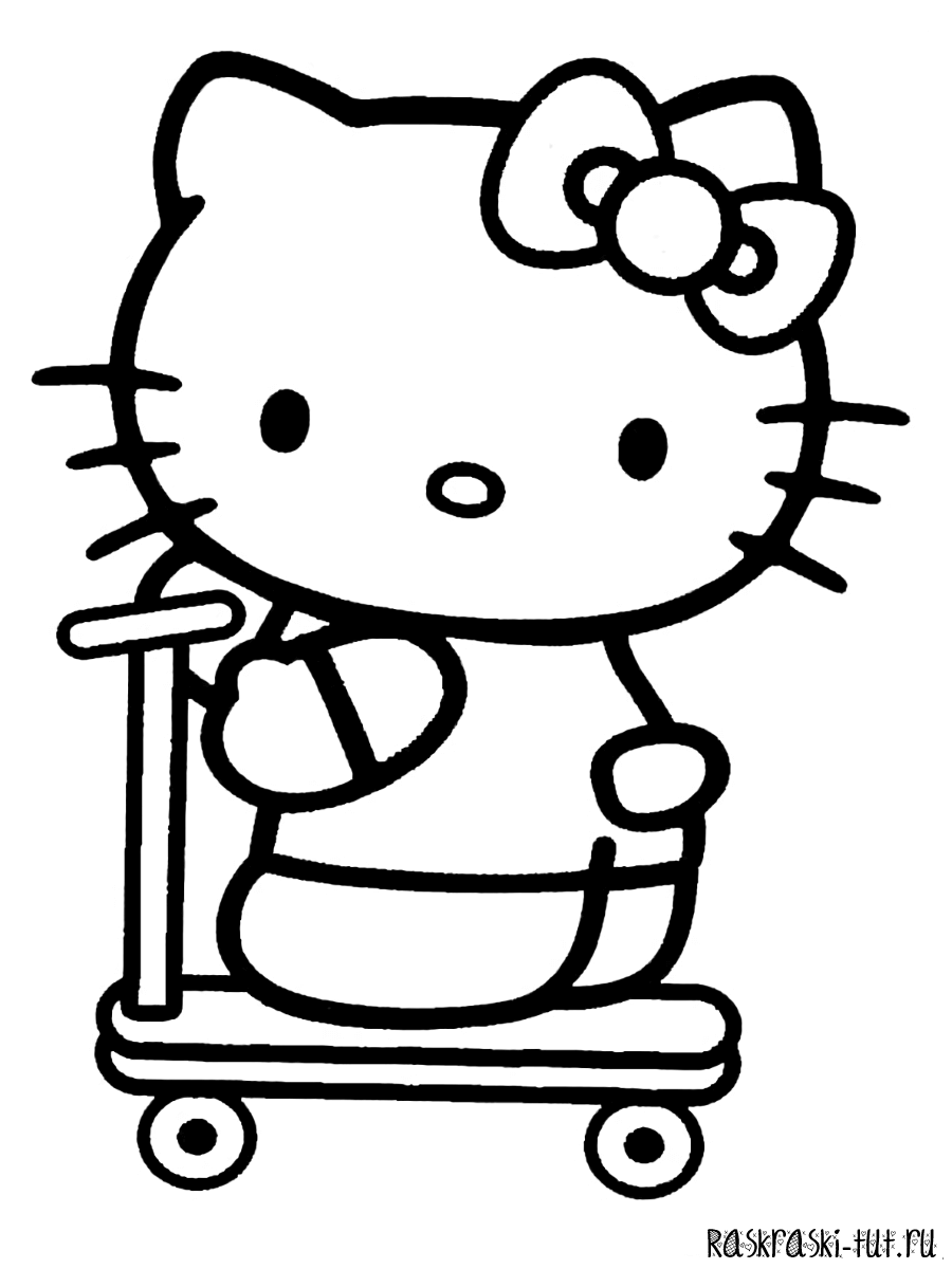 Раскраски Хелло Китти распечатать / Hello Kitty #4