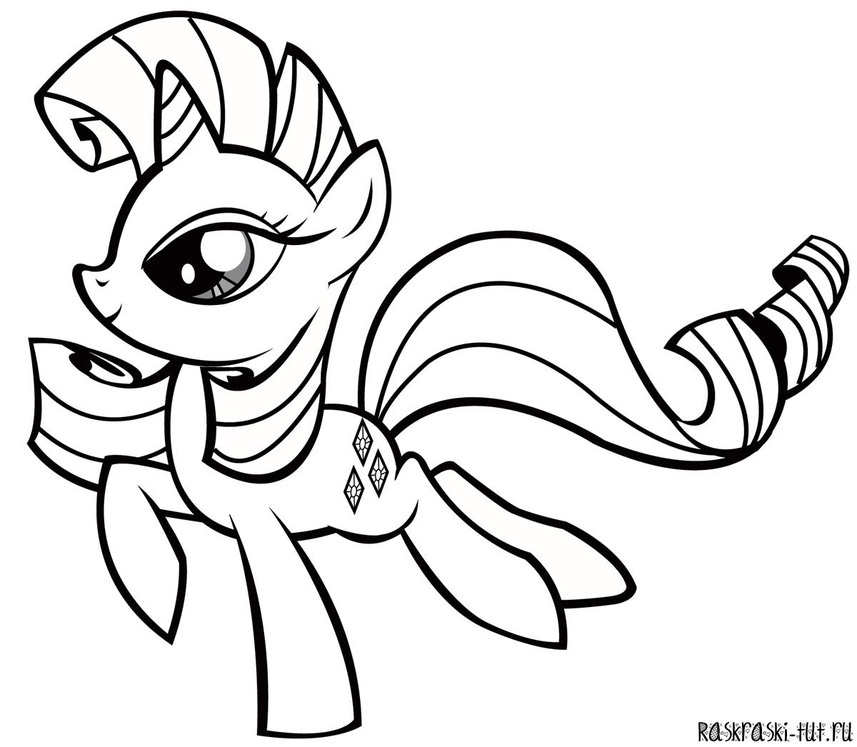 печать раскраску мой маленький пони