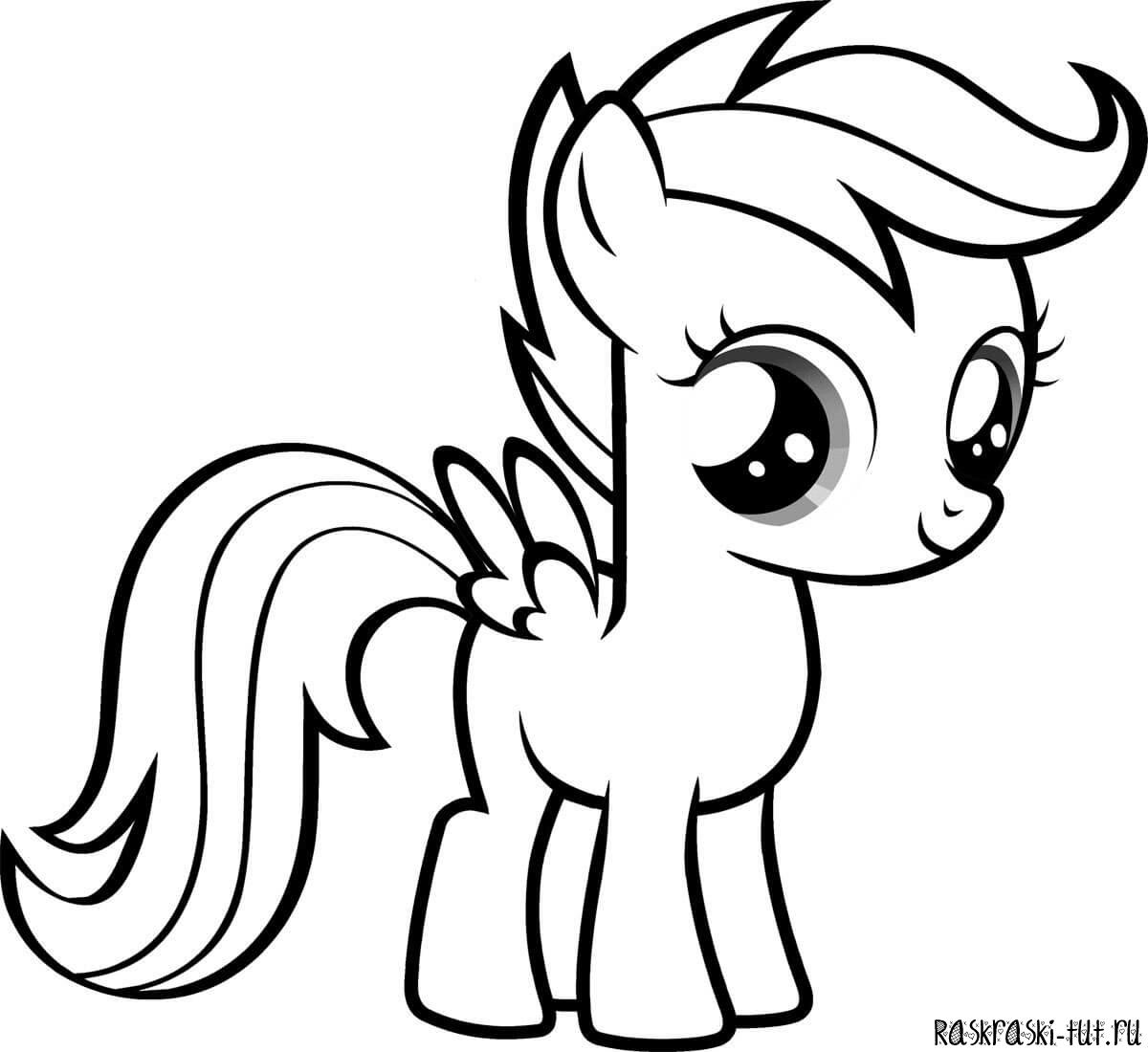литл пони раскраска распечатать