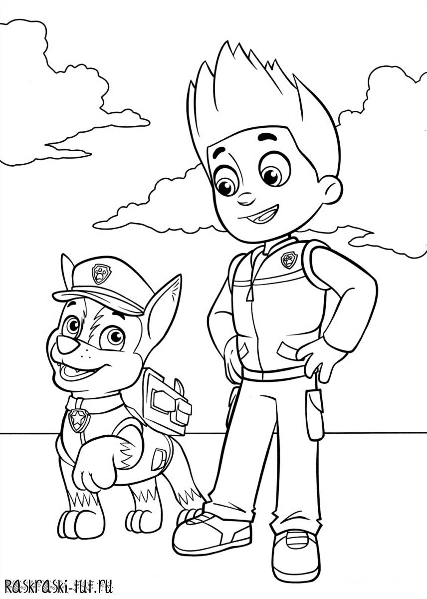 Раскраски для мальчиков щенячий патруль онлайн бесплатно - 9