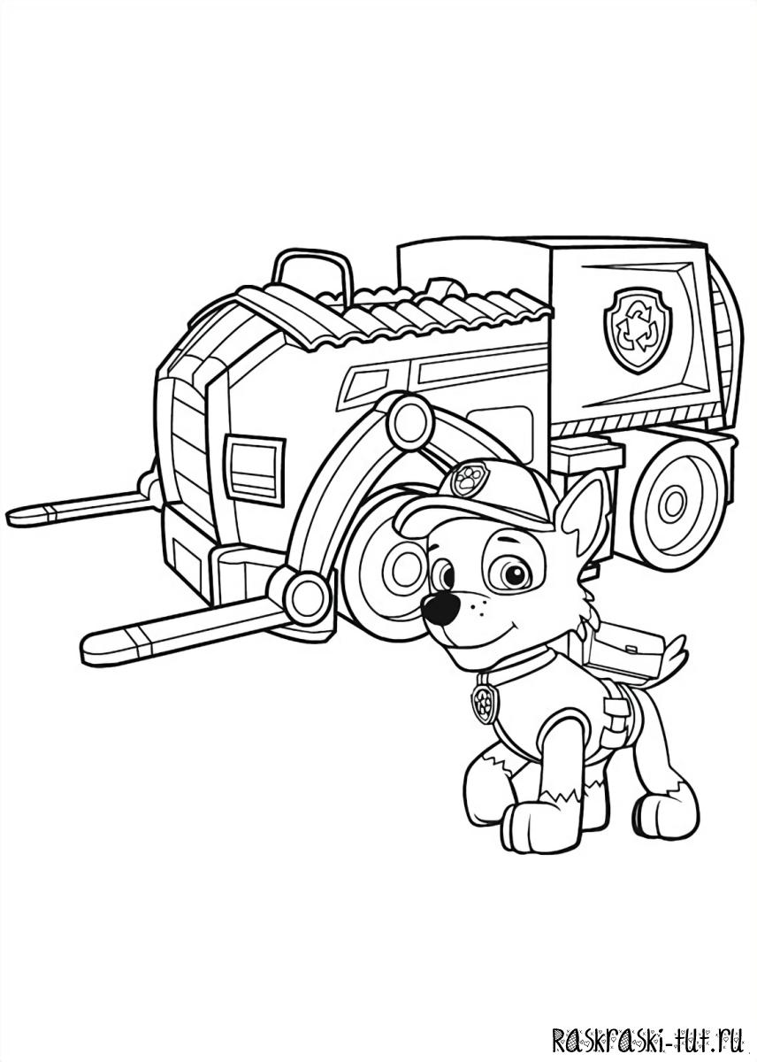 Раскраски скай щенячий патруль