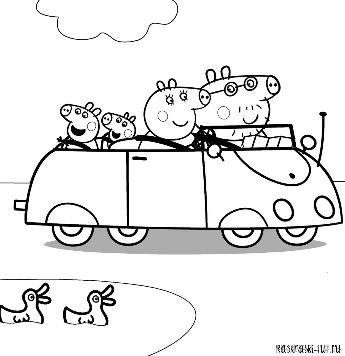 Распечатать свинку пеппу раскраска - 2