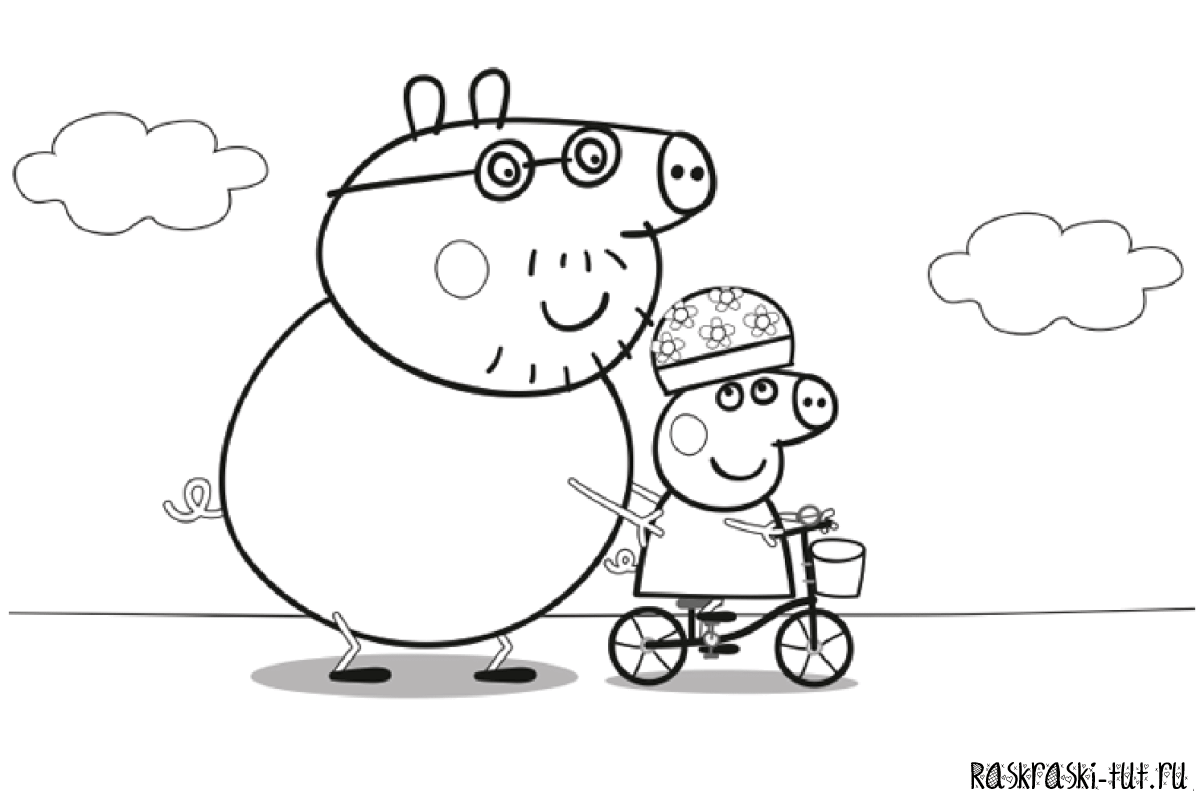 daddy pig images coloring pages - photo#24