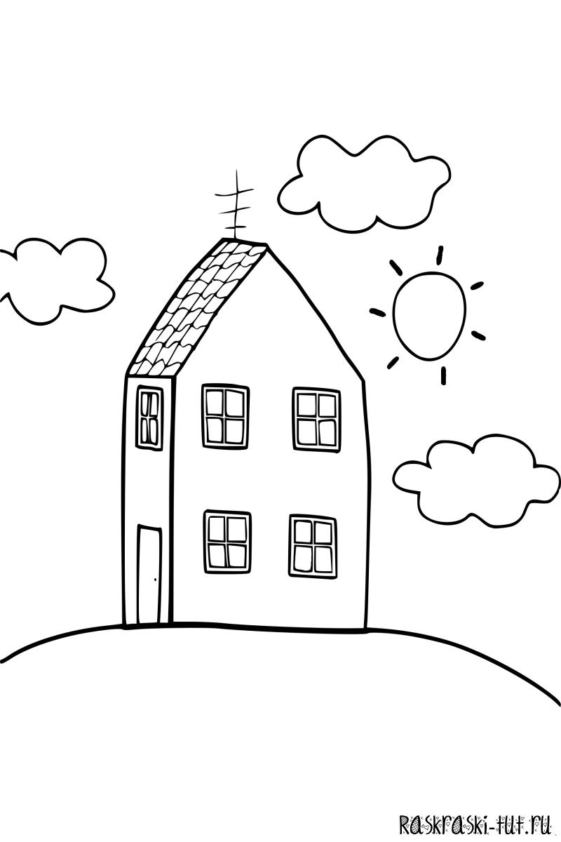 Свинка пеппа рисовать дом
