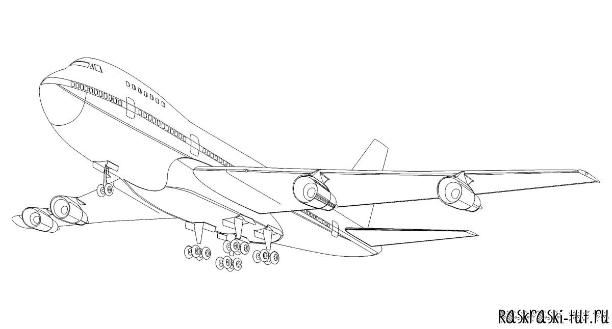 Раскраска самолеты распечатать