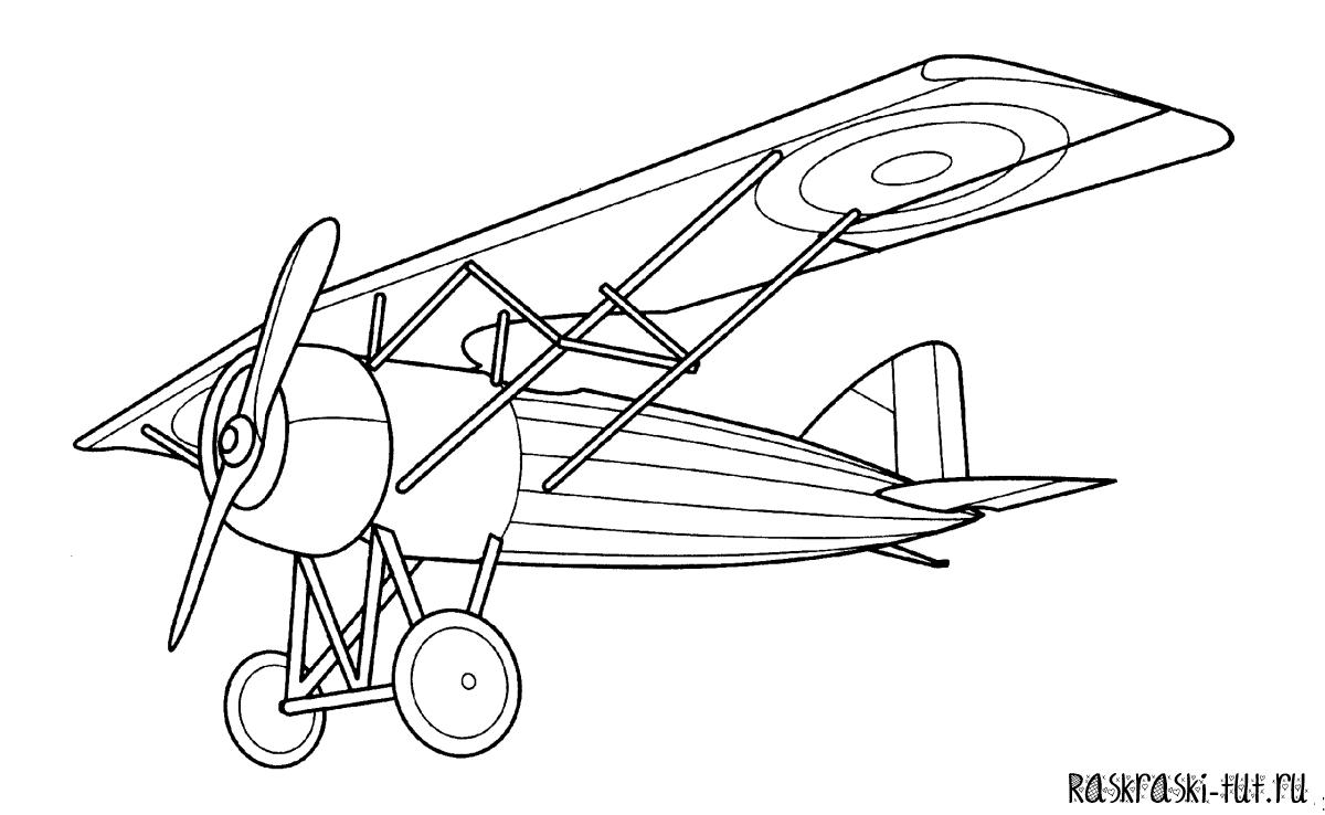 Как нарисовать самолет раскраска