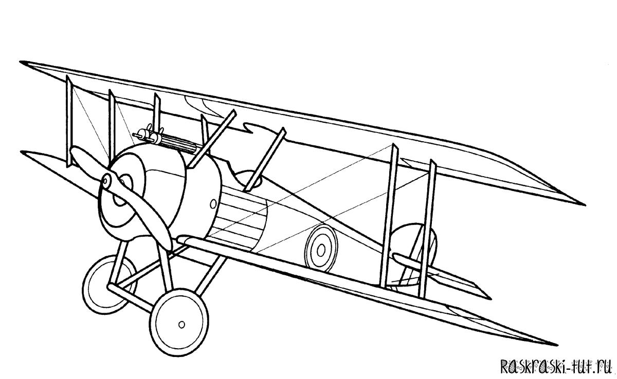 Раскраска самолета кукурузника