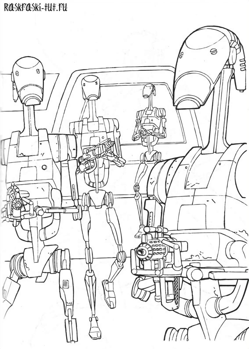 Распечатать раскраски Звездные Войны / Star Wars #3