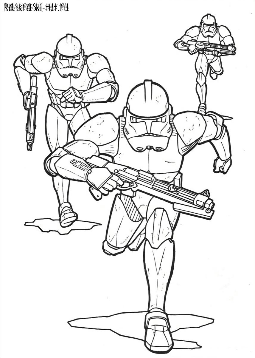 Раскраски для мальчиков звездные войны распечатать бесплатно - 4
