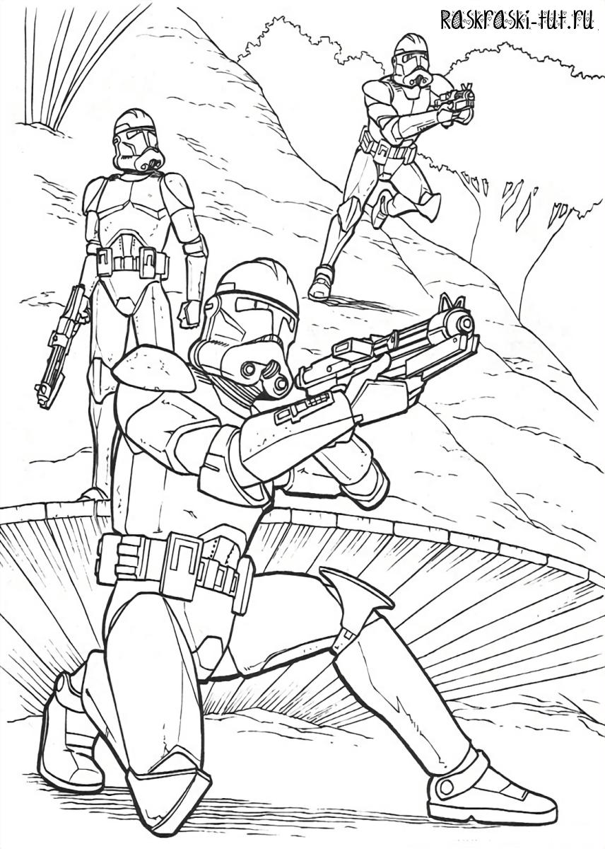 Распечатать раскраски Звездные Войны / Star Wars #7