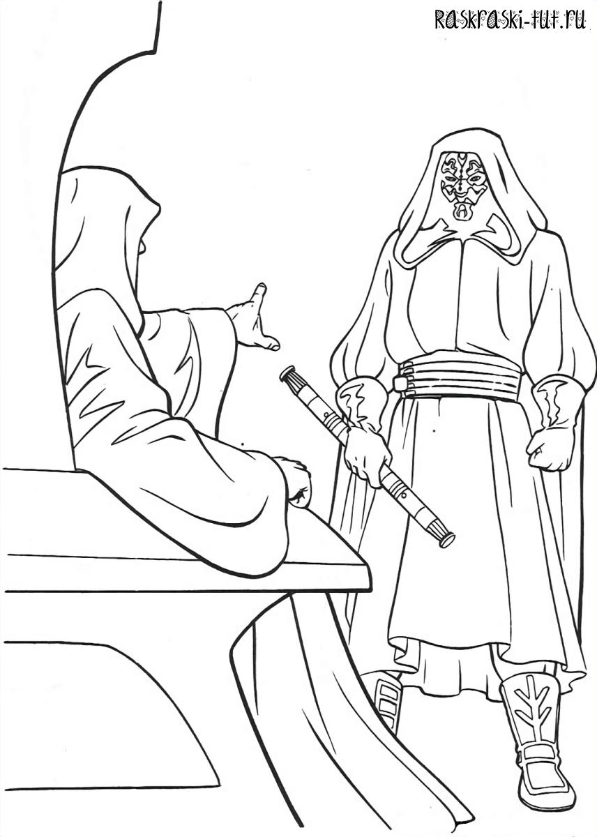 Распечатать раскраски Звездные Войны / Star Wars #9