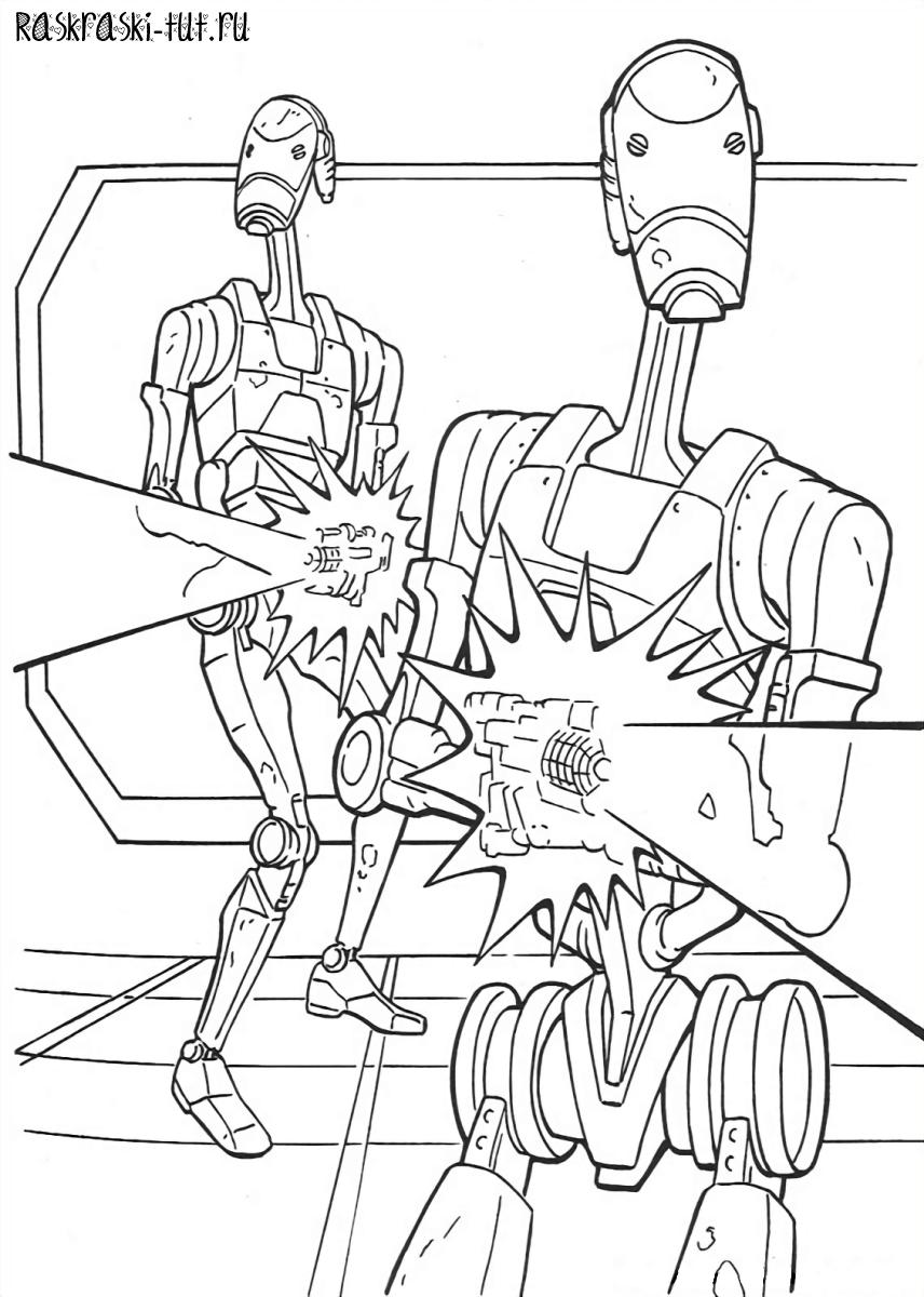 Распечатать раскраски Звездные Войны / Star Wars #10