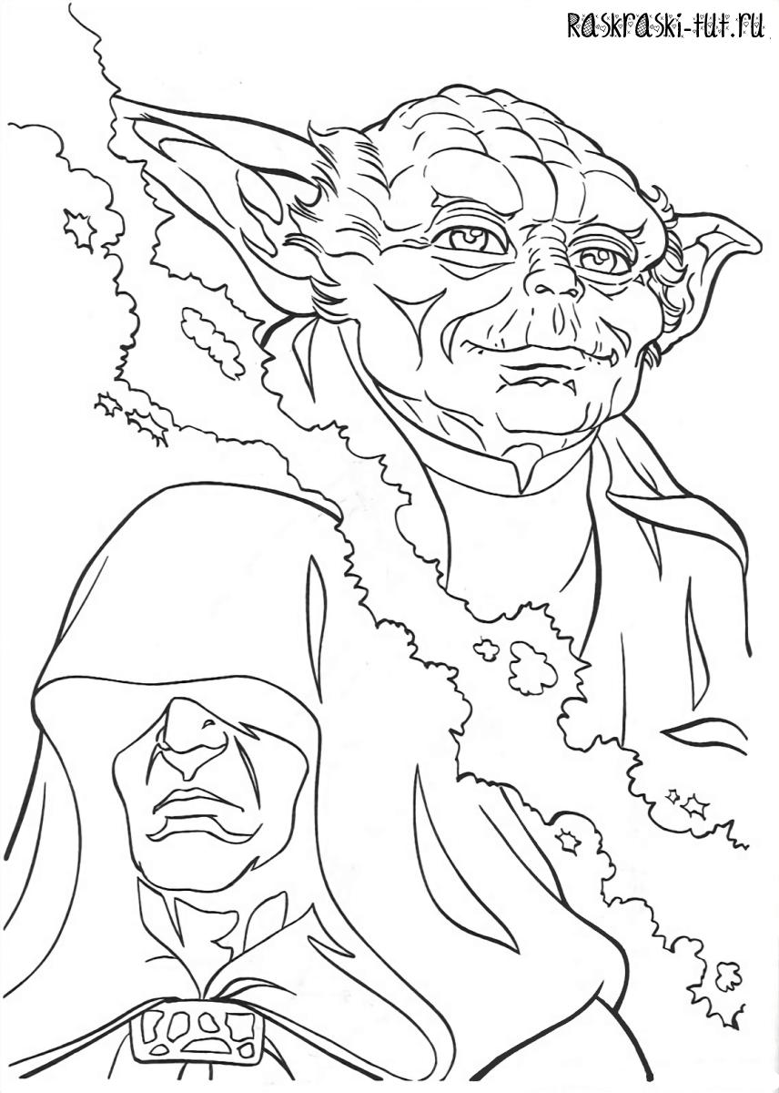 Распечатать раскраски Звездные Войны / Star Wars #11