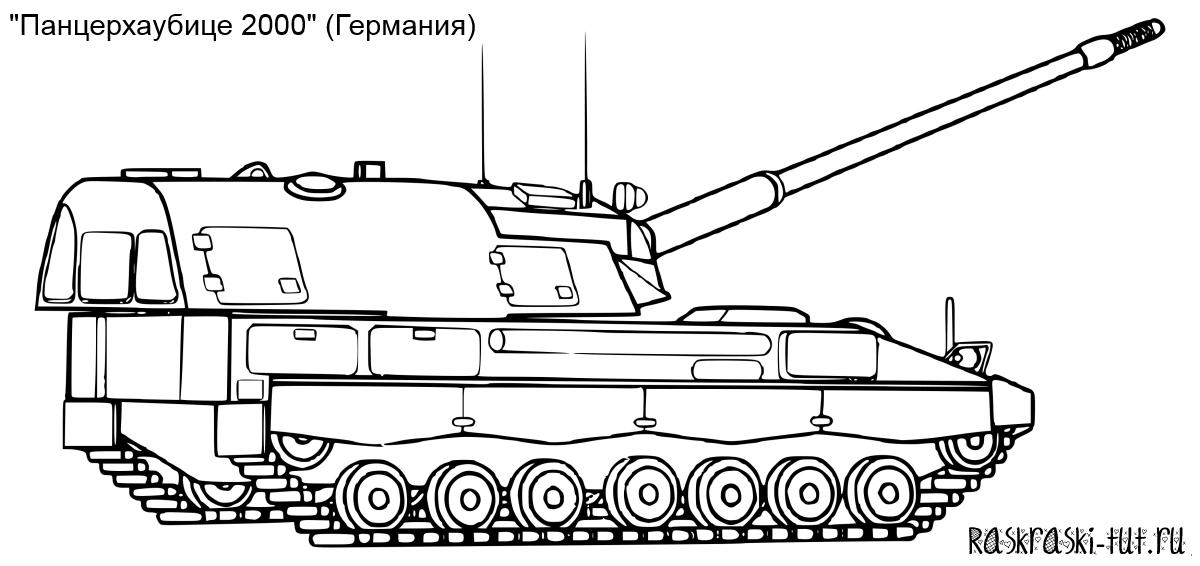 Распечатать раскраски танки бесплатно #3