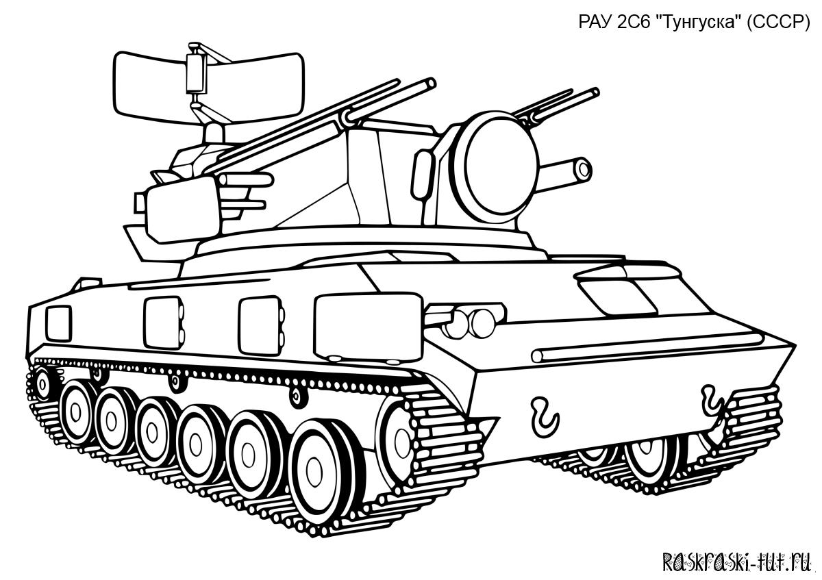 Онлайн раскраски танки 3