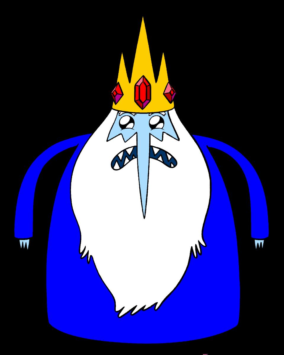 Распечатать раскраски Время приключений - Снежный Король