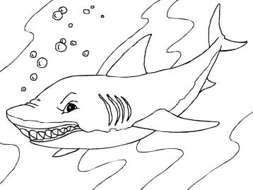 Акула раскраска игра
